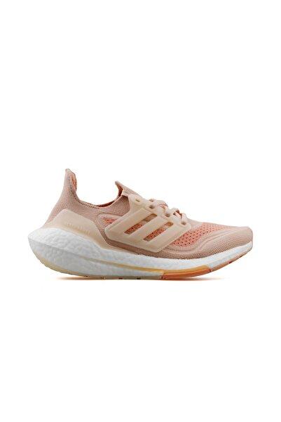 adidas Ultraboost 21 W Kadın Koşu Ayakkabısı S23838 Krem