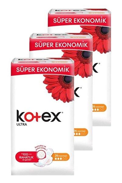 Kotex Ultra Normal 26'lı Üçlü Set