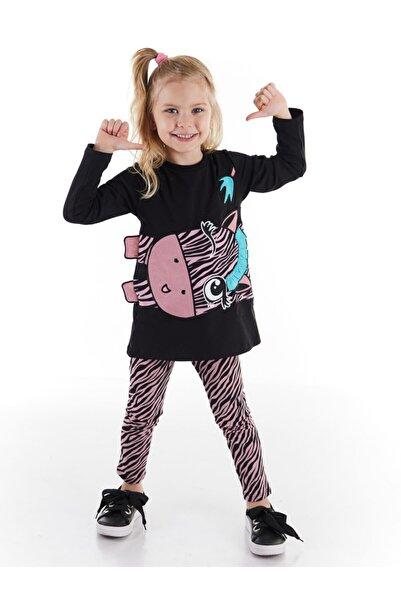 Denokids Zıpır Zebra Kız Tunik Takım