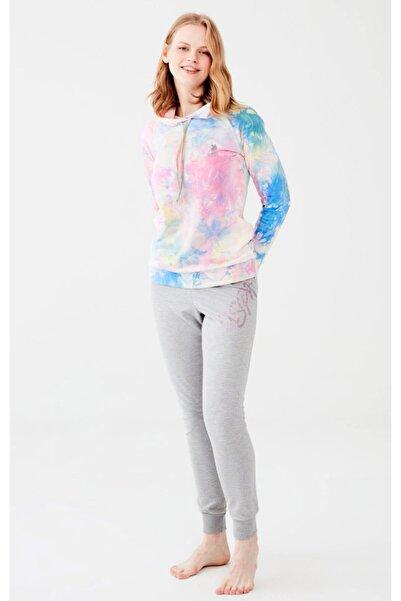 U.S. Polo Assn. Kadın Renkli Dar Paça Pijama Takım