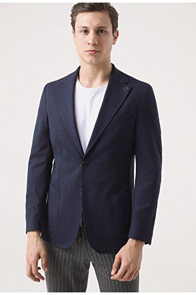Damat Damat Slim Fit Lacivert Kumaş Ceket