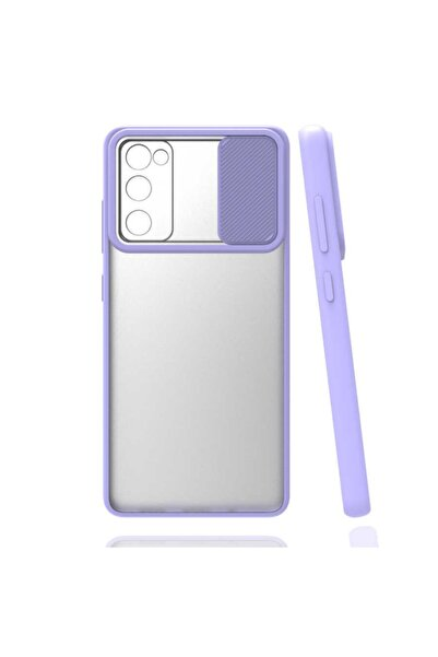 Samsung Galaxy S20 Fe Uyumlu Kaydırma Kapaklı Kamera Koruyucu Mat Renkli Slikon Kapak