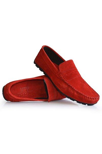 Freemax Kırmızı Hakiki Deri Erkek Loafer Ayakkabı