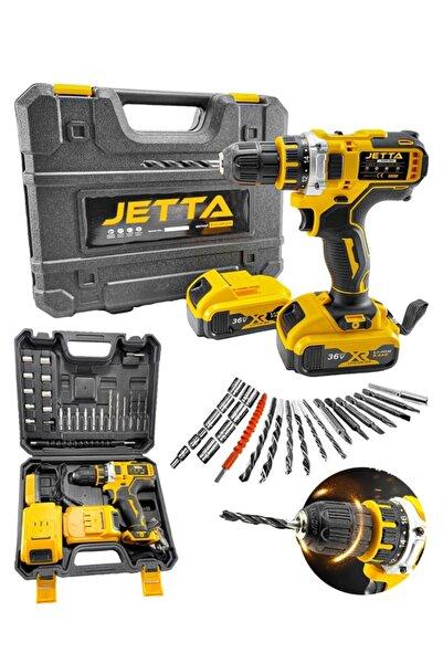Jetta Power Tools Yeni Seri Güçlü Versiyon 36 V Çift Akülü Şajlı Matkap 24 Parça Set Hediyeli