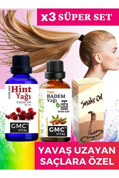 Gmc vital Hızlı Saç Uzatma Serumu Dökülme Karşıtı Hint Yağı Badem Yağı Yılan Yağı