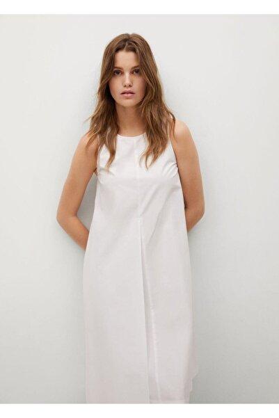 MANGO Woman Kadın Etek Ucu Asimetrik Kesim Elbise
