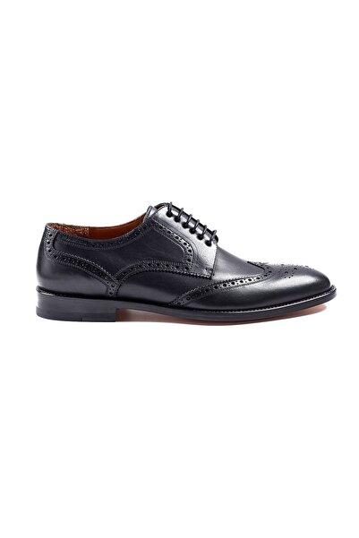 Hemington El Yapımı Siyah Klasik Deri Ayakkabı