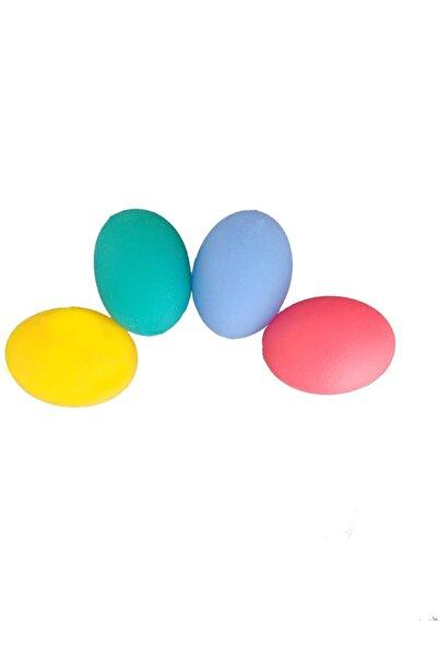 RAJ 4 Lü Set4 Renk Silikon Stres Topu El Egzersiz Topu Fizik Tedavi Topu El Bilek Parmak Güçlendirme Top