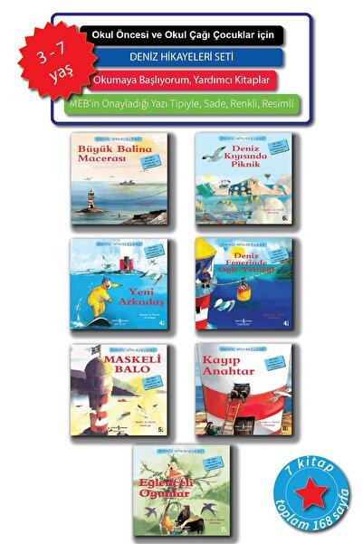 İş Bankası Kültür Yayınları 3 - 7 Yaş Okul Öncesi Ve Okul Çağı Için Resimli Deniz Hikayeleri, Okumaya Başlıyorum Seti