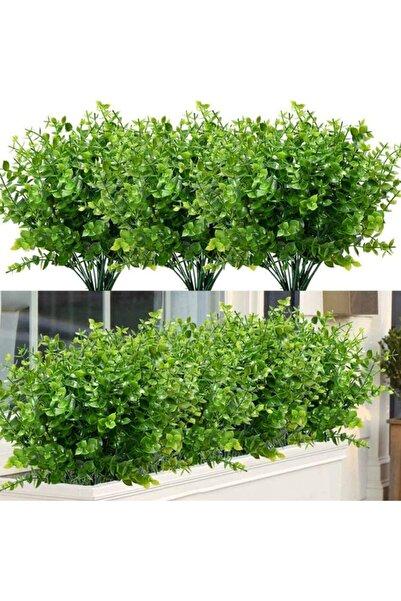 Nettenevime Yapay Çiçek Şimşir Demet 10 Adet Garnitür Yeşil Aradal Dekoratif Yapay Bitki