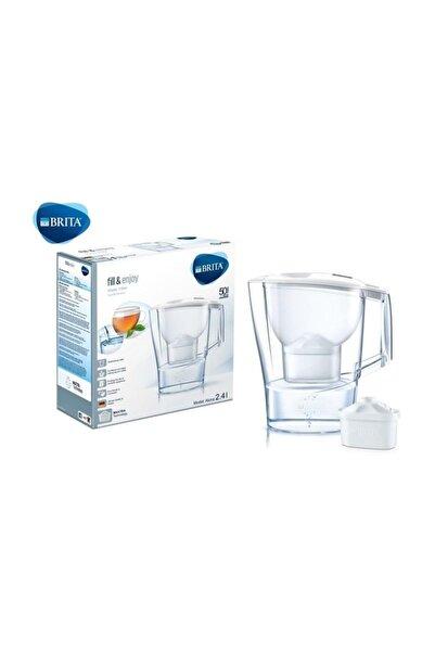 BRITA Aluna Cool 1 Filtreli Su Arıtmalı Akıllı Beyaz Sürahi (2.4 LİTRE)
