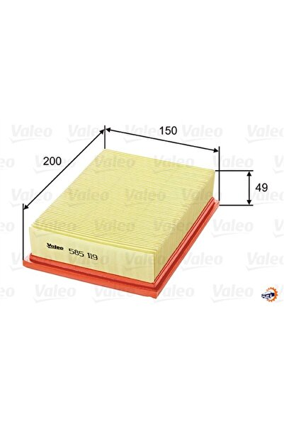 PARCAWORLD Hava Filtresi Fıesta Iıı 1.8 D Valeo 585119 Uyumlu