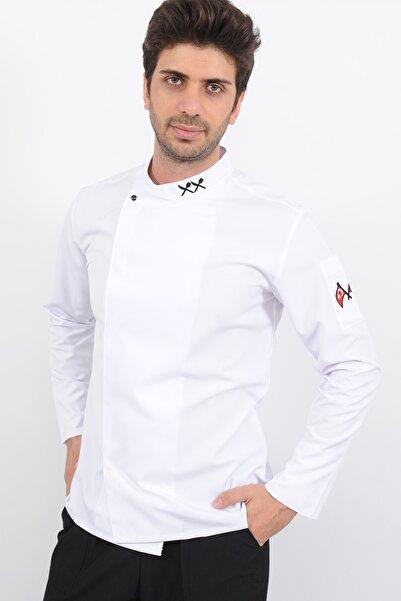 Lobby Uniform T Yaka Beyaz Aşçı Ceket