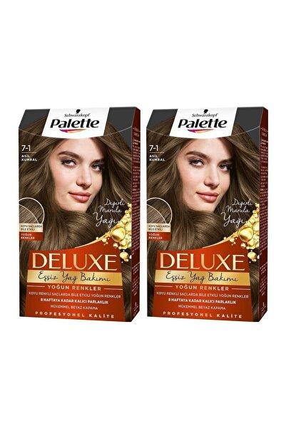 PALETTE DELUXE Deluxe Yoğun Renkler 7-1 Asil Kumral X 2 Adet