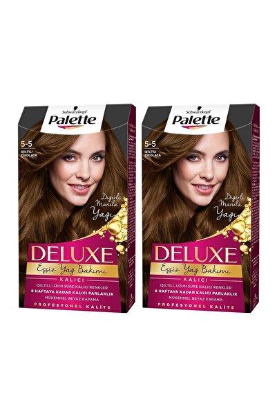 PALETTE DELUXE Deluxe 5-5 Işıltılı Çikolata  X 2 Adet