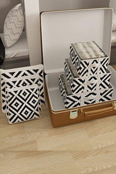 Vivyan Bavul Içi Düzenleyici Organizer Seyahet Organizeri Bavul Düzenleyici 6 Lı Set Mozaik Desen