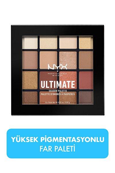 NYX Professional Makeup Göz Farı Paleti - Ultimate Shadow Pallette Warm Neutrals 800897017644