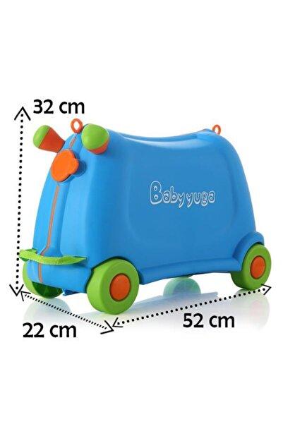 Temel Baby Yuga Çekçekli Tekerlekli Çocuk Valizi (Mavi)