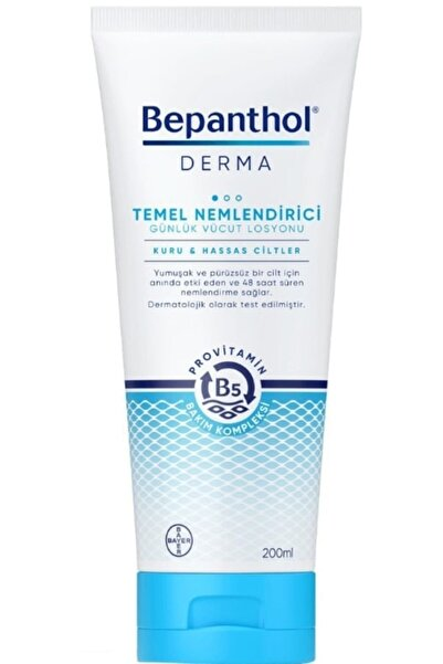 Bepanthol Derma Temel Nemlendirici Vücut Losyonu 200 ml