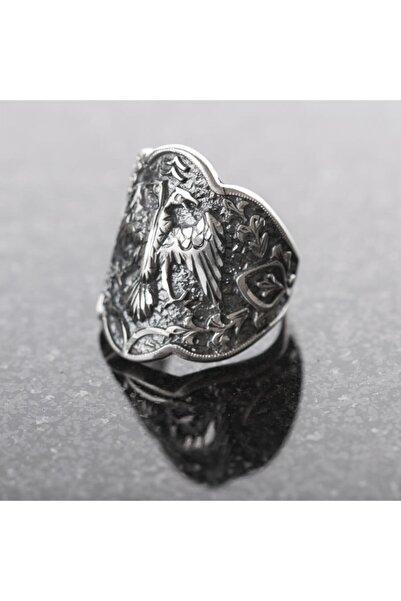 Takılingo 925 Ayar Gümüş Selçuklu Kartalı El Işi Zihgir Erkek Yüzük