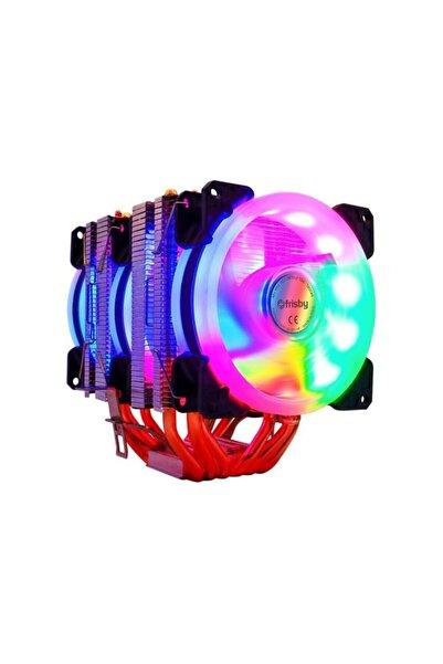 FRISBY Fcl-f1326c 6x Bakır Borulu 3 Fanlı Kule Tipi Rainbow Işlemci Fanı Amd / Intel Uyumlu