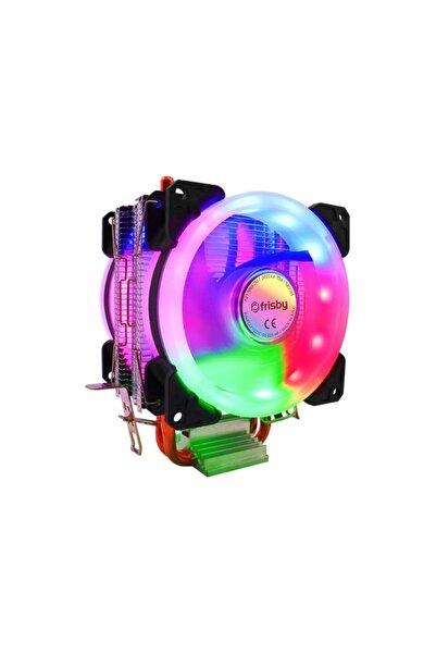 FRISBY Fcl-f1322c Çift Fanlı 2x Bakır Borulu Kule Tipi Rainbow Işlemci Fanı Amd / Intel Uyumlu