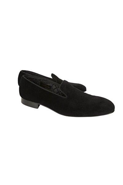 BROOKS BROTHERS Erkek Siyah Kadife Ayakkabı