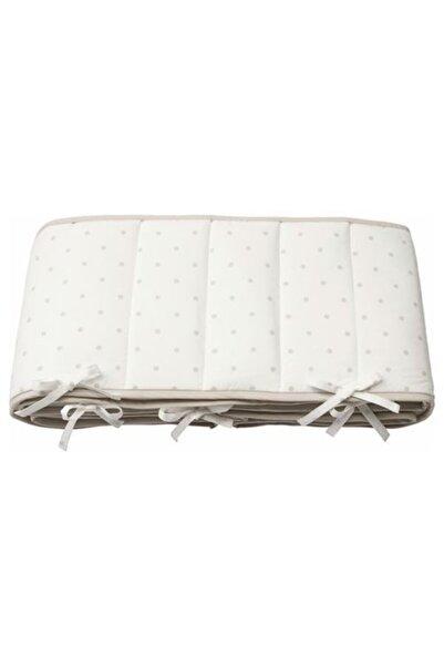 IKEA Beşik Koruyucu Kenarlık 60x120 Cm Meridyendukkan Beyaz-gri Pamuklu Kenar-başlık Koruyucu