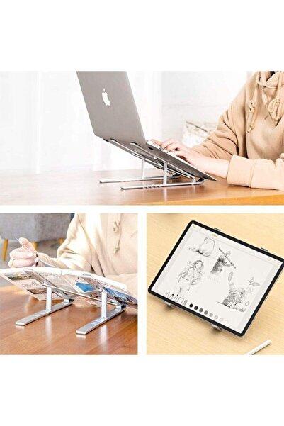 Teknozon Alüminyum Ayarlanabilir Manyetik Masaüstü Dizüstü Standı, Katlanabilir Dizüstü Macbook Laptop Standı