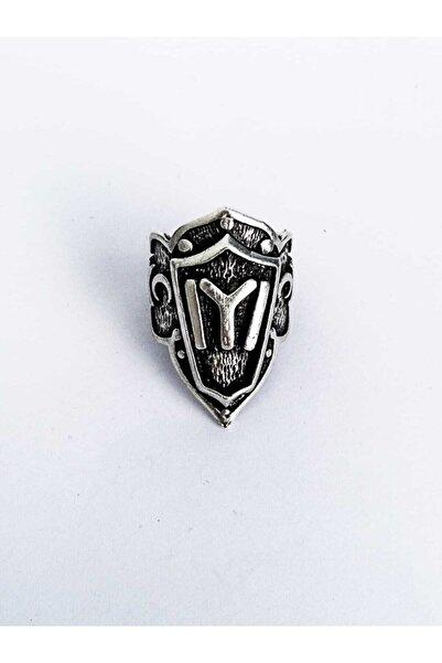 Dolunay Aksesuar Antik Gümüş Kaplama Ayarlanabilir Ertuğrul Gazi Kayı Boyu Okçu Zihgir Yüzüğü