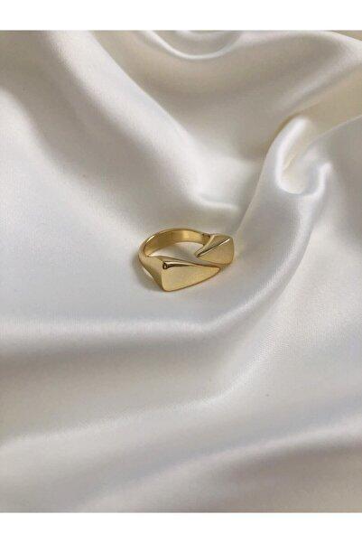The Y Jewelry Üçgen Plaka Önden Ayarlamalı Yüzük