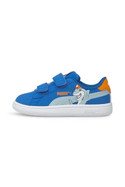 Puma Smash V2 Lil Bebek Mavi Günlük Ayakkabı - 38090501