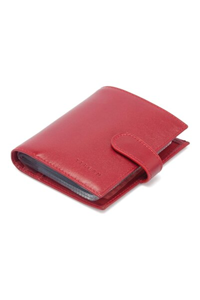 Tergan Kırmızı Deri Unisex Kredi Kartlık 01323c71