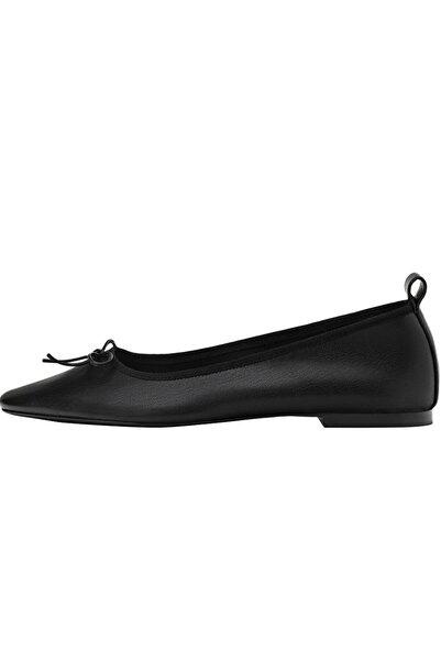 Stradivarius Fiyonk Detaylı Düz Babet Ayakkabı