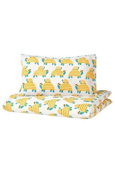 IKEA Bebek Nevresim Takımı, Sarı Meridyendukkan 110x125/35x55 Cm Pamuklu-desenli-çarşafsız