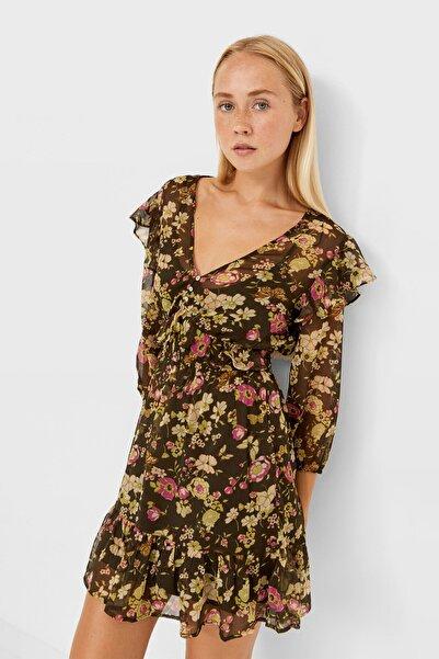 Stradivarius Romantik Mini Elbise