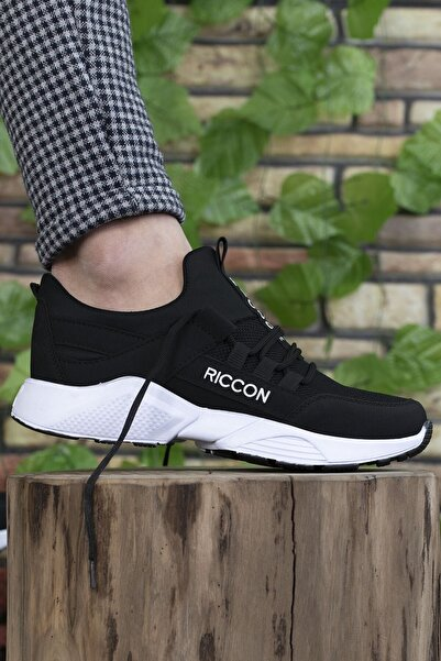 Riccon Unisex Siyah Beyaz  Sneaker