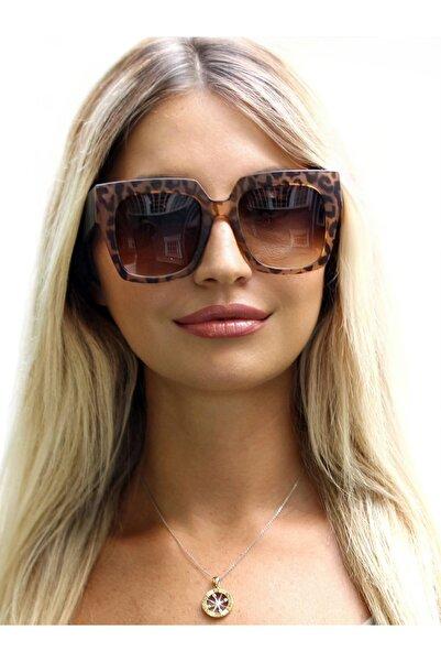 CLAES Maria Leopard Vintage Fashion Hafif Kadın Güneş Gözlüğü
