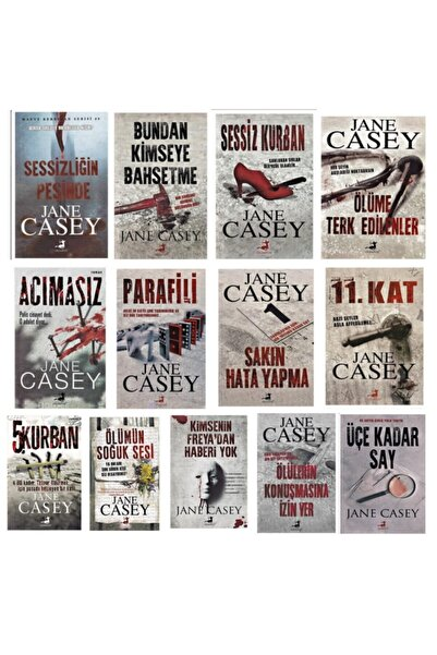 Olimpos Yayınları Jane Casey Bütün Eserleri 13 Kitap Takım
