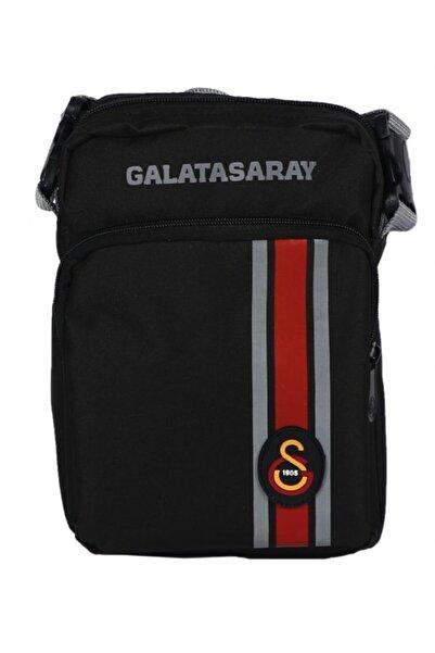 GS Galatasaray Lisanlı Siyah Omuz Askısı Karanlıkta Parlayan Şeritler