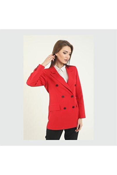 Eyyo Kadın Içi Astarlı Cep Detaylı Blazer Ceket