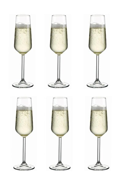 Paşabahçe Allegra 6 Parça Ayaklı Kadeh Flüt Şampanya Kadehi