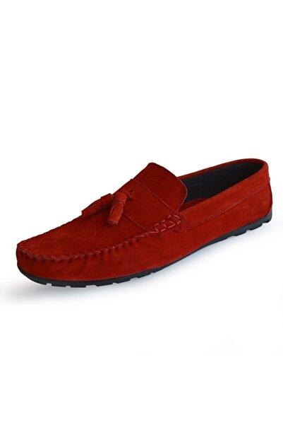Freemax Kırmızı Hakiki Deri Unisex Loafer Ayakkabı