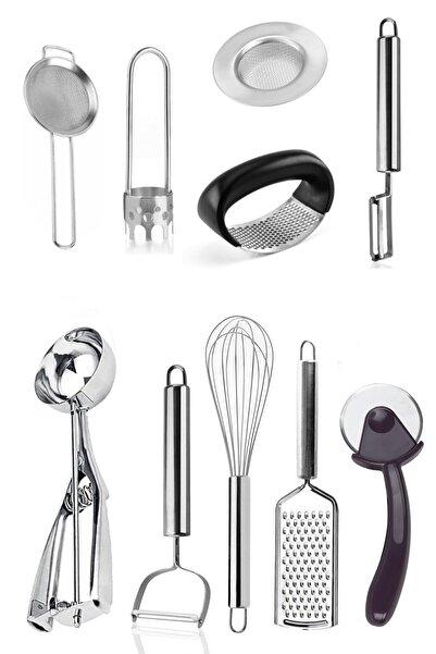 Homerest 10 Parça Lüx Yemek Hazırlık Pratik Mutfak Çeyiz Seti