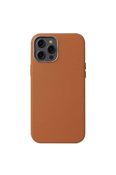 zore Iphone 12 Pro Max Kılıf Orjinal Deri Kamera Korumalı Kaymaz