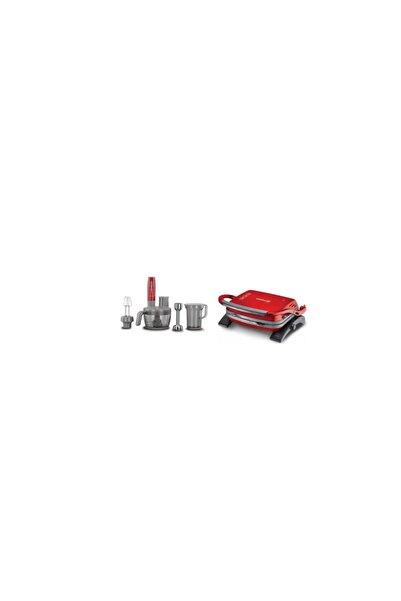 KORKMAZ A455-01 Vertex Multi Blender Set -tostkolık Kırmızı 2 Li Set
