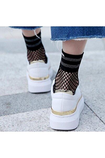 Bolero Simli Siyah File Soket Kadın Çorap