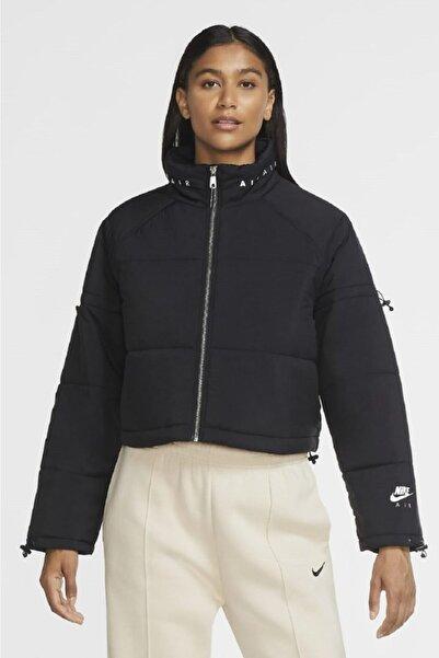 Nike Air Thermore Dolgulu Kısa Oversize Siyah Ceket Mont