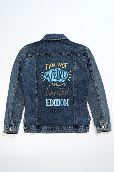 by OYK Kadın Mavi Kot Ceket