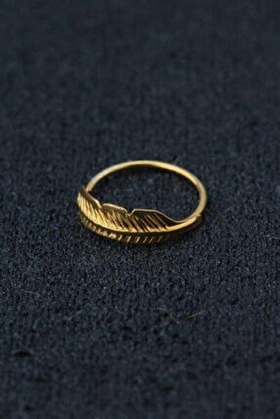Kadın Sarı 925 Ayar Gümüş Halka Hızma